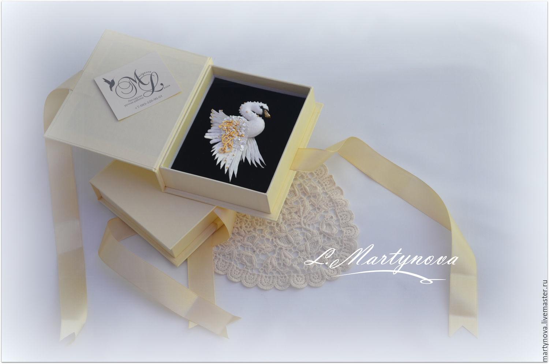 Brooch. Miniature brooch 'White SWAN', Brooches, Omsk,  Фото №1