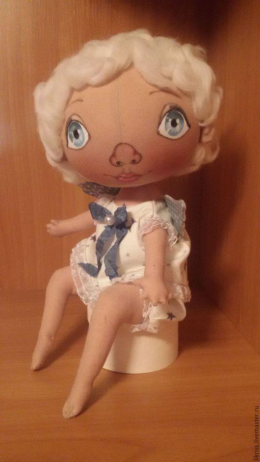 Куклы тыквоголовки ручной работы. Ярмарка Мастеров - ручная работа. Купить Ангелок. Handmade. Голубой, ручная работа