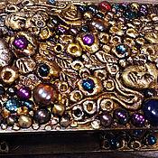 """Для дома и интерьера ручной работы. Ярмарка Мастеров - ручная работа Книга шкатулка """"Самоцветы"""". Handmade."""
