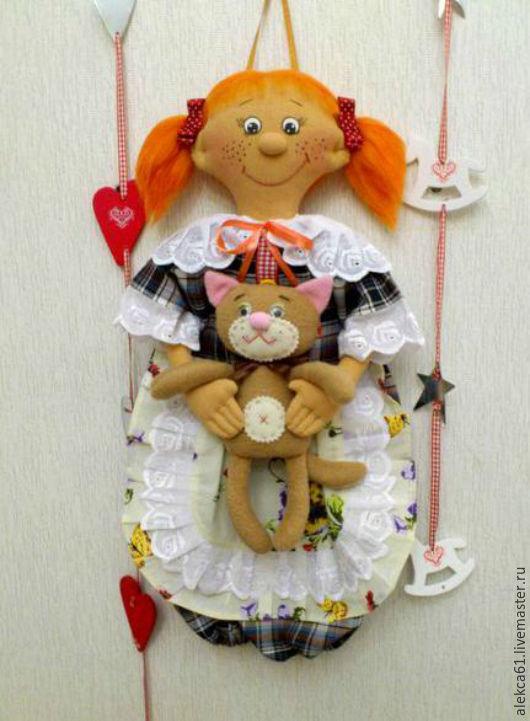 """Кухня ручной работы. Ярмарка Мастеров - ручная работа. Купить Кукла - пакетница. """"Рыжая Соня"""". Handmade. Рыжий, хранение в кухне"""