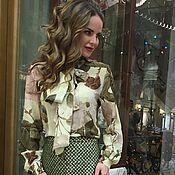 """Одежда ручной работы. Ярмарка Мастеров - ручная работа """"Лимонные розы"""" блузка и юбка.. Handmade."""