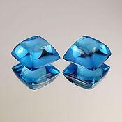 Кабошоны ручной работы. Ярмарка Мастеров - ручная работа ТОПАЗ  32,5 карата SWISS BLUE ПАРА. Handmade.