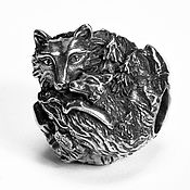 "Украшения handmade. Livemaster - original item Silver bead ""Foxes"". Handmade."