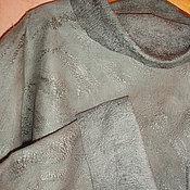 """Одежда ручной работы. Ярмарка Мастеров - ручная работа валяный свитер большого размера """"олива"""". Handmade."""