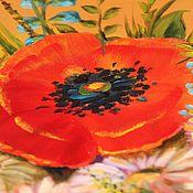 """Картины ручной работы. Ярмарка Мастеров - ручная работа Маки """"Букет медовый с маками"""", картина маки,  оранжевый. Handmade."""