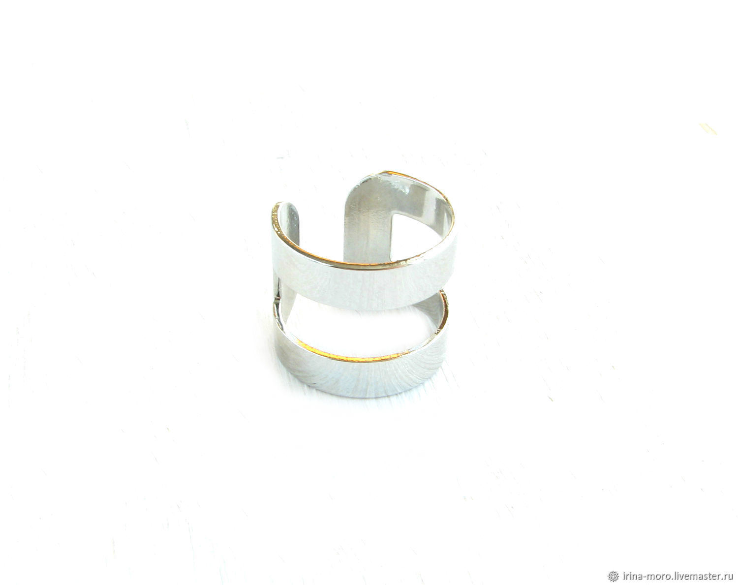 Silver wide ring on the phalanx of the finger without stones, Phalanx ring, Moscow,  Фото №1