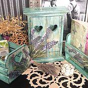 Для дома и интерьера ручной работы. Ярмарка Мастеров - ручная работа Магия Прованса, набор из 3 предметов для прихожей. Handmade.