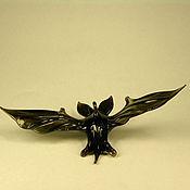 Для дома и интерьера ручной работы. Ярмарка Мастеров - ручная работа Стеклянная фигурка летучая мышь. Handmade.