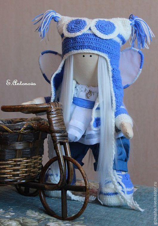 """Коллекционные куклы ручной работы. Ярмарка Мастеров - ручная работа. Купить Кукла """"Озорной Ангелочек"""". Handmade. Синий, голубой, ангел"""