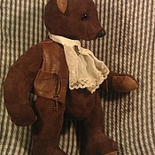 """Куклы и игрушки ручной работы. Ярмарка Мастеров - ручная работа замшевый мишка Жорж с""""ревуном"""". Handmade."""