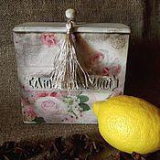 Банки ручной работы. Ярмарка Мастеров - ручная работа Короб для листового чая. Handmade.