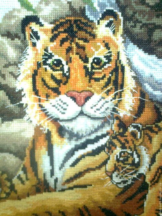 Животные ручной работы. Ярмарка Мастеров - ручная работа. Купить Тигрица с малышами. Handmade. Оранжевый, тигрица