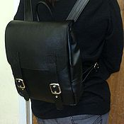 Сумки и аксессуары handmade. Livemaster - original item Backpack leather city 80. Handmade.