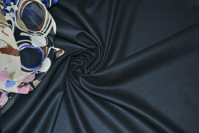 Костюмная 100% шерсть темно-синего цвета, Ткани, Москва,  Фото №1