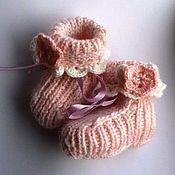 Работы для детей, ручной работы. Ярмарка Мастеров - ручная работа пинетки, носочки. Handmade.