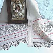 Свадебный салон ручной работы. Ярмарка Мастеров - ручная работа Свадебный рушник Лебеди на икону ручная вышивка. Handmade.