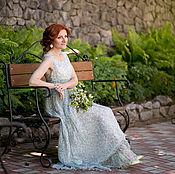 Одежда ручной работы. Ярмарка Мастеров - ручная работа Платье длинное шелковое свадебное. Handmade.
