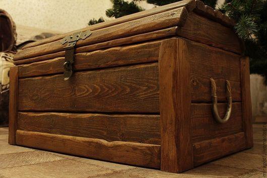 Мебель ручной работы. Ярмарка Мастеров - ручная работа. Купить Славянский сундук. Handmade. Рыжий, для дачи, подарок на новый год