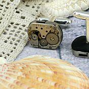 Украшения ручной работы. Ярмарка Мастеров - ручная работа запонки в стиле стимпанк. Handmade.