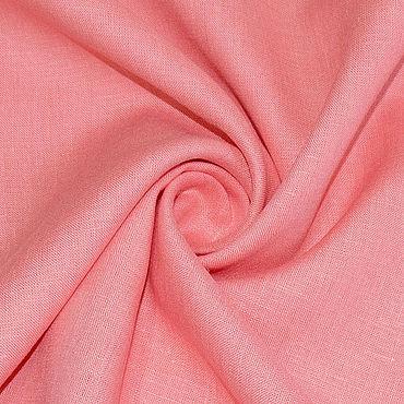Материалы для творчества ручной работы. Ярмарка Мастеров - ручная работа Ткань льняная тонкая блузочная. Светло-коралловый. Handmade.