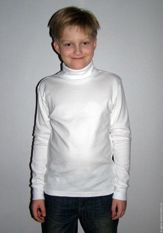 Одежда унисекс ручной работы. Ярмарка Мастеров - ручная работа. Купить Водолазка детская белая. Handmade. Водолазка, детская