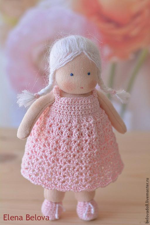 Вальдорфская игрушка ручной работы. Ярмарка Мастеров - ручная работа. Купить Вальдорфская кукла Розочка, 15 см. Handmade.