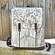 Рюкзак Wood Vintage / Рюкзак женский / Серый Коричневый Бирюзовый