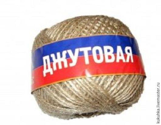 """Вязание ручной работы. Ярмарка Мастеров - ручная работа. Купить """"Джутовая"""". Handmade. Коричневый, джутовая нить, джут, Вязание крючком"""