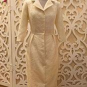 Одежда ручной работы. Ярмарка Мастеров - ручная работа Платье-пальто со скидкой 50% из жаккарда. Handmade.