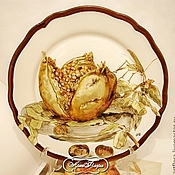 Посуда handmade. Livemaster - original item The painted porcelain.Plate porcelain