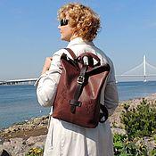 Сумки и аксессуары handmade. Livemaster - original item Backpacks: Backpack brown women`s leather Robert Mod SR34t-722. Handmade.
