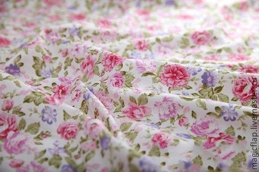 Шитье ручной работы. Ярмарка Мастеров - ручная работа. Купить Ткань хлопок Розовые мечты (цветочный принт). Handmade. Хлопок