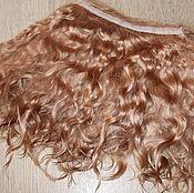 Материалы для творчества handmade. Livemaster - original item Mohair tress (caramel) (Hair for dolls). Handmade.