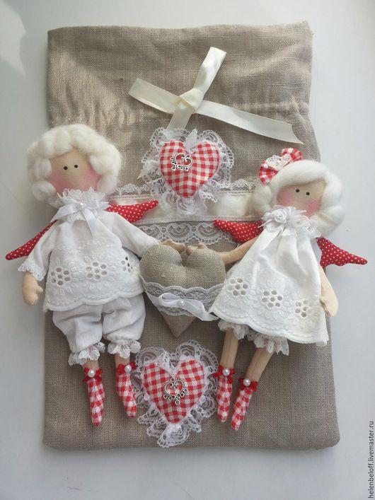 Куклы Тильды ручной работы. Ярмарка Мастеров - ручная работа. Купить Свадебные ангелы. Handmade. Белый, ангел, свадьба