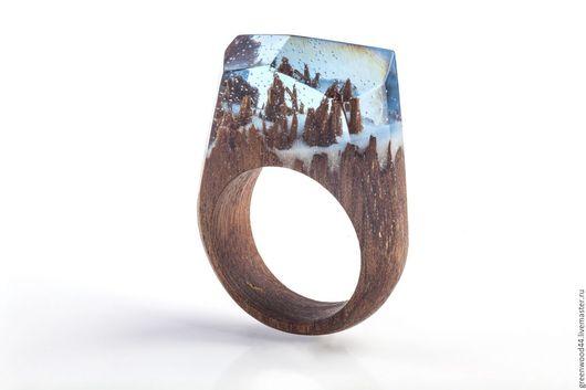 """Кольца ручной работы. Ярмарка Мастеров - ручная работа. Купить Кольцо """"Winterfell"""". Handmade. Дерево, красиво, дуб, голубой, Дуб"""
