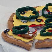 Куклы и игрушки ручной работы. Ярмарка Мастеров - ручная работа Пицца из фетра.. Handmade.