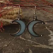 Украшения handmade. Livemaster - original item Moon Blue Earrings (e-003-07). Handmade.