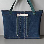 Сумки и аксессуары handmade. Livemaster - original item Tote: REGASS denim bag. Handmade.