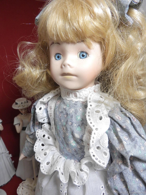 Vintage porcelain handmade doll,stamped on neck 66ZA, Vintage doll, Coventry,  Фото №1