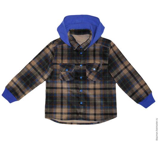 Одежда для мальчиков, ручной работы. Ярмарка Мастеров - ручная работа. Купить Рубашка с капюшоном. Handmade. Комбинированный, рубашка, микровельвет, для ребенка