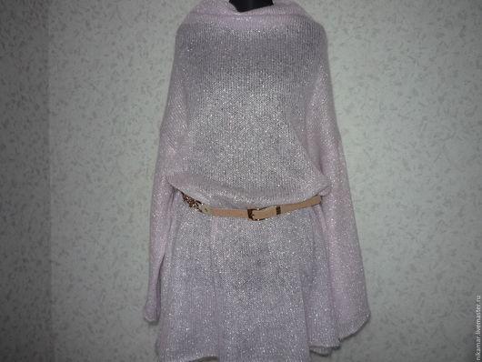 """Кофты и свитера ручной работы. Ярмарка Мастеров - ручная работа. Купить Туника """"Розовый кварц-2"""" большой размер. Handmade."""