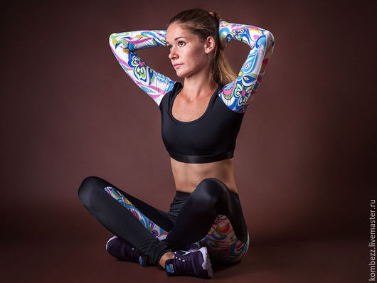 Спортивная одежда ручной работы. Ярмарка Мастеров - ручная работа. Купить SexyFlowers top. Handmade. Комбинированный, спорт, спортивный костюм