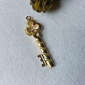 Подвеска ключ золото