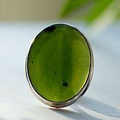 Украшения handmade. Livemaster - original item Ring with jade