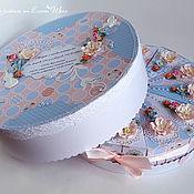 """Торт бумажный """"Нежность"""" бумажный торт с пожеланиями"""