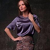 Одежда ручной работы. Ярмарка Мастеров - ручная работа Шелковая блузка и юбка Шанель.. Handmade.