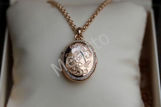 Подарки для влюбленных ручной работы. Ярмарка Мастеров - ручная работа. Купить Медальон под фотографию из золота с бриллиантами. Handmade. Золото