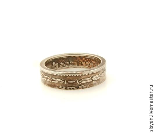 Кольца ручной работы. Ярмарка Мастеров - ручная работа. Купить Кольцо из монеты, Израиль, Coin ring, две стороны, старая монета. Handmade.