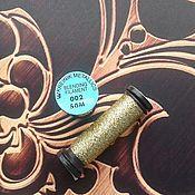 Материалы для творчества ручной работы. Ярмарка Мастеров - ручная работа Kreinik Blending Filament 002 Gold. Handmade.