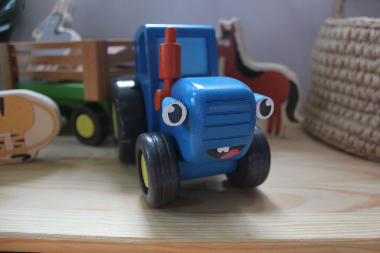 Синий трактор из мультика – купить на Ярмарке Мастеров ...